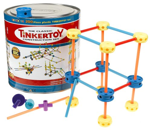 Building Toys Sets : Order tinker toy piece plastic construction set