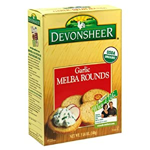 Devonsheer Garlic Melba Rounds, 5.25-Ounce Boxes (Pack of 12)