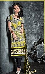 Divine Fab Women's Cotton Unstitched Dress Material (Divine Fab_16_Turqoise_Free Size)