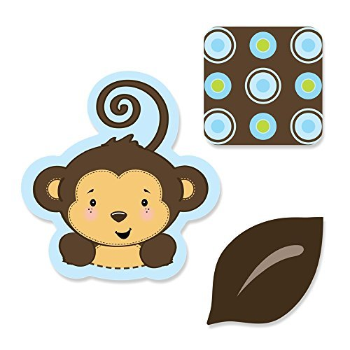Monkey Boy - Shaped Party DIY Cut-Outs - 24 Count - 1