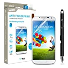 Samsung Galaxy S4 Screen Protector Sentey® Anti Fingerprint Invisible (Pack of 3) Ls-13204 Bundle with Free Metal Stylus Touch Screen Pen {Lifetime Warranty}