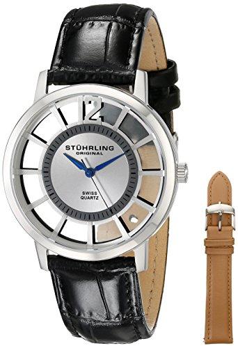 Stuhrling Original Men'S 388S.33152 Winchester Swiss Quartz Transparent Watch With Additional Strap
