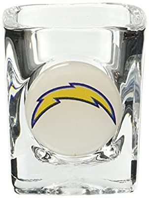 Great American 8900675007 2 oz. San Diego Chargers Square Shot Glass