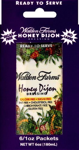 Walden Farms Honey Dijon Salad Dressing Packets - Six 1 oz. packets per box