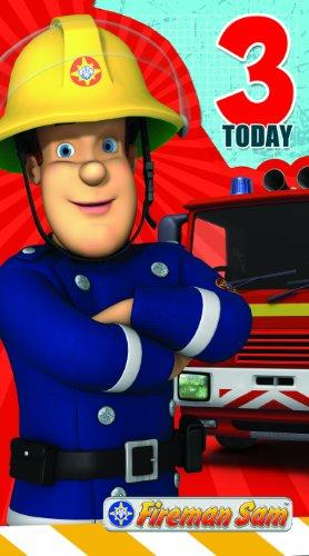 Fireman Sam FS011 Carte d'anniversaire 3 ans