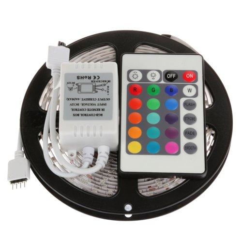 Green House® 5M Rgb 3528 Led Color Change Strip Light 60Leds/M Led Strip Lighting Non-Waterproof+ Remote Control 24Key + Ir Receiver