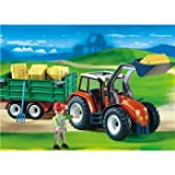 Playmobil - 4496 Tractor with Hay Trailer