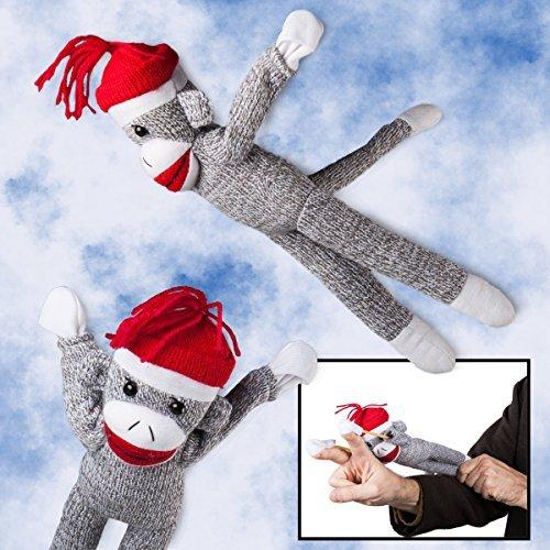 2 Flying Screaming Sock Monkeys Toy Launch 50ft Superfly Slingshot Kids Tarzan