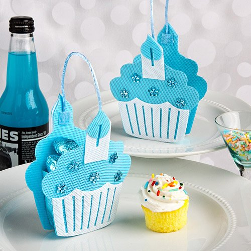 Blue Cupcake Treat Bags [Set Of 24]