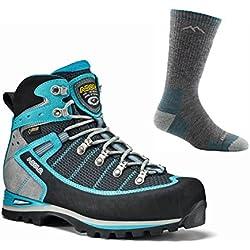 Asolo Women's Shiraz GV Boot Black/Blue Peacock w/ Darn Tough Sock
