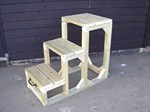 """Equestrian Mounting Steps/Blocks 30"""" Wooden"""