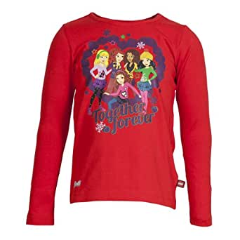 LEGO Wear Sweatshirt  Col ras du cou Manches longues Fille - Rouge - Rot (348 STRONG RED) - FR : 5 ans (Taille fabricant : 110)