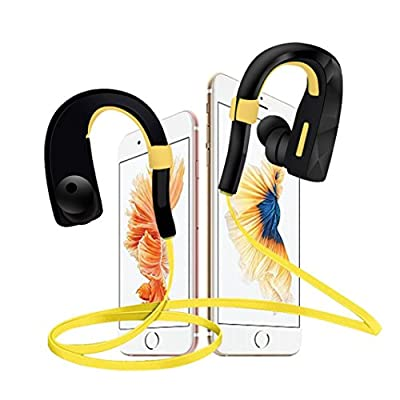 Dreaman Bluetooth Ear Hook Wireless Sports Stereo Waterproof Headset Earphone Yellow