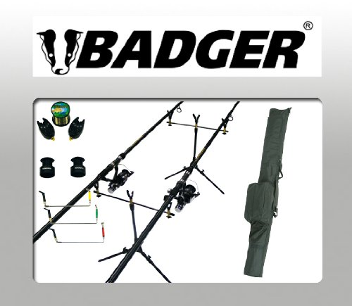 BADGER 2 ROD COMPLETE CARP SET