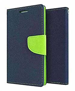 Cover Wala Best Quality Jeans Fabric Flip Cover with Excellent Fitting for HTC Desire 620 - Blue