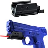 TacFire® Pistol Low Profile Red Dot Laser Sight w/Picatinny ,Weaver Mount , T6 6061 Aluminum Light and Duarable , Sliding On/Off Switch with weaver Rail on the Bottom For Additional Accessories