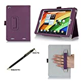 ProCase Acer Iconia A1-830 Tablet Case with bonus stylus pen - Flip Stand Folio Cover for Acer Iconia A1-830 Android Tablet (2014 released), Corner Protected, with Stand and Hand Strap (Purple)