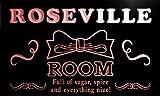 pe2262-r Roseville Girl Kids Room Ribbon Hang Out Neon Light Sign