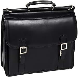 McKleinUSA HALSTED 80335 Black Double Compartment Laptop Case