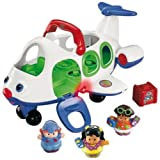 Fisher Price - Jouet Premier Age - Little People - Avion + 3 figurines : le pilote de l'avion, Eddie et Sarah Lynn