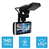 KDLINKS® X1 Full-HD 1920*1080 165° Wide Angle Car Dashboard Camcorder with GPS, G-Sensor & WDR Superior Night Mode