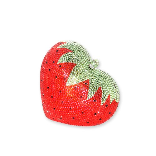 Strawberry Swarovski Crystal Clutch Bag