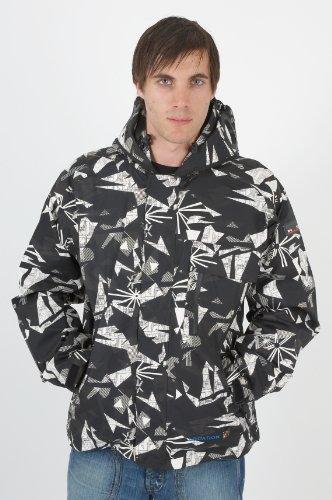 Mens Location Goggle Recco Waterproof Snowboarding Rain Hooded Coat Ski Jacket