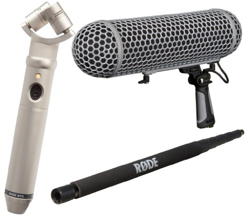 Rode Nt4 - X/Y Stereo Condenser Microphone With Rode Boompole And Rode Blimp Windshield / Suspension System