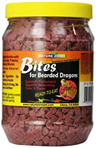 Nature Zone SNZ54622 Bearded Dragon Bites Soft Moist Food, 24-Ounce