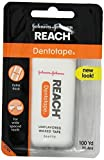 Reach Dentotape Extra Wide Waxed Tape, 100 Yards (Pack of 6) by Johnson & Johnson Reach