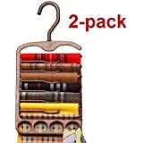 2-Pack Tenby Scarf, Tie Hanger, Organizer, Rack