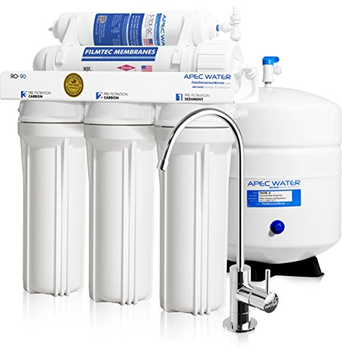 APEC Water Systems RO-90 Top Tier, Built in USA, Premium Quality, Ultra Safe, High-Flow 90 GPD Reverse Osmosis Drinking Water Filter System