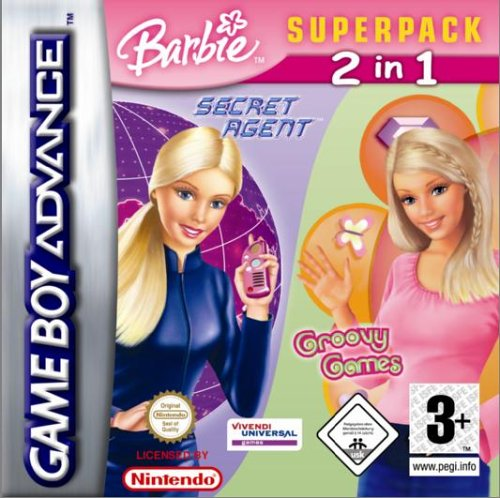 Barbie SuperPack: Barbie Secret Agent/Barbie Groovy Games (GBA)