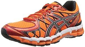 Asics Men's Gel Kayano 20 Running Shoes - Orange/Black/Red/Silver, Size 10.5