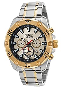 Invicta 20012 Men's Pro Diver Chrono Ss And 18K Gold Plated Steel Champagne Dial Watch