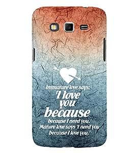 EPICCASE Immature Love Mobile Back Case Cover For Samsung Galaxy Grand (Designer Case)