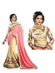 Bikaw Embroidered Pink Georgette Party Wear Saree - BT-1194-A5