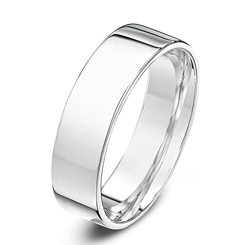Palladium 5mm Heavy Weight Flat Court Shape Wedding Ring