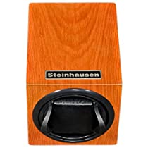 Steinhausen TM1031MORL Backstein 12-Mode Single Orange Wood Grain Watch Winder