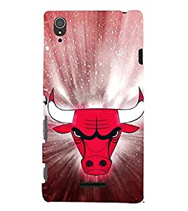 EPICCASE Red Faced Bull Mobile Back Case Cover For Sony Xperia T3 (Designer Case)