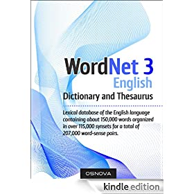 WordNet 3 (largest English dictionary and thesaurus)