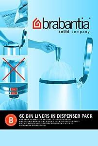 Brabantia Smartfix Bin Liners, Size B, 5 Litre - 60 Bag Dispenser Pack