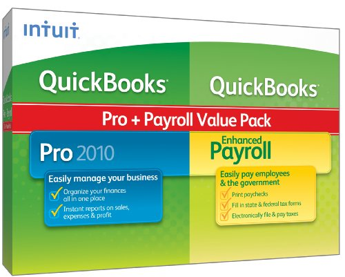 QuickBooks Pro w/Enhanced Payroll 1-3 Employees 2010