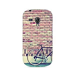 Motivatebox- Cycle by the Wall Premium Printed Case For Samsung S3 Mini 8190 -Matte Polycarbonate 3D Hard case Mobile Cell Phone Protective BACK CASE COVER. Hard Shockproof Scratch-