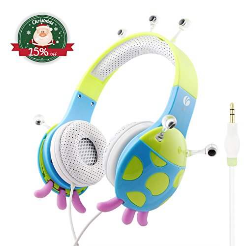 Kids Headphones By VCOM - Monster Design - For iPad, Computer, Tablet, Smartphone - Suitable for 6-12 Years Old Children - Available in 3 Colors (Kids 10 Years Old compare prices)