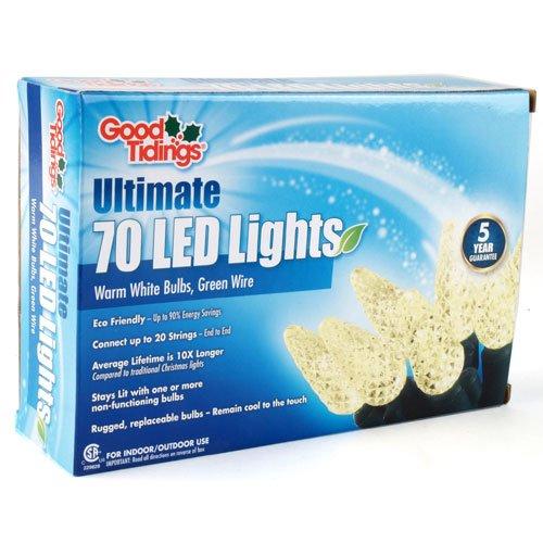 Good Tidings Led00542 Led C6 Christmas Light Set, Warm White