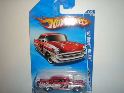 2010 Hot Wheels KMart Exclusive HW Performance '57 Chevy Bel Air Red/Silver - 1