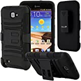 Cell Xcessories Tough Rugged Layered Hybrid Belt Clip Holster Case for Samsung Galaxy Note I717, N7000, I9220, T897