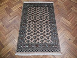 Beige Natural wool SOFT Handmade 5x8 Bokhara Area Rug