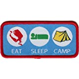 Eat, Sleep, Camp Cloth Badge
